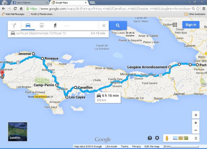 Driving Route - Haiti