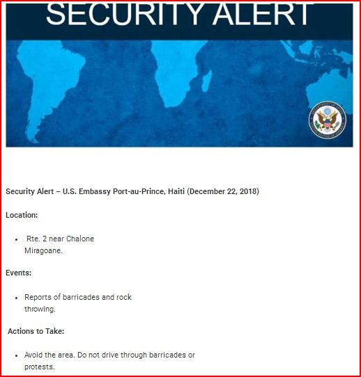 Embassy Alert
